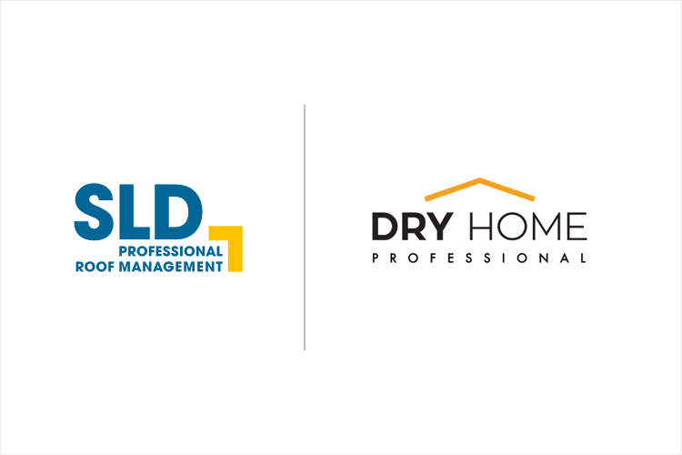 Logo SLD and Dry-Home Roof Managment Sp.z o.o. SLD Authorized Service Partner for Polish market.